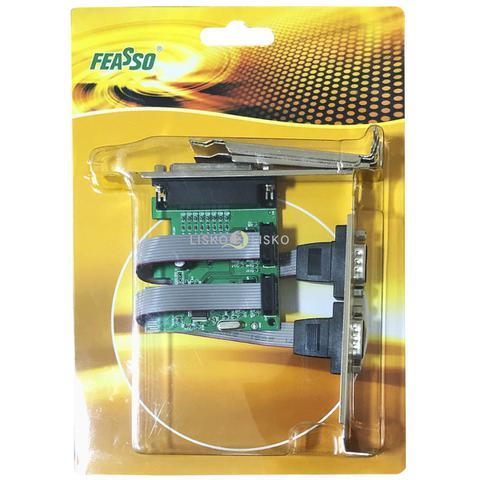 Imagem de Placa Pci Express X1 2 Seriais 1 Paralela Low Profile Feasso