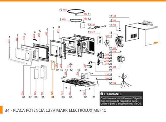 Imagem de PLACA POTENCIA MEF41 -  127V MARR - 70001740 - Electrolux