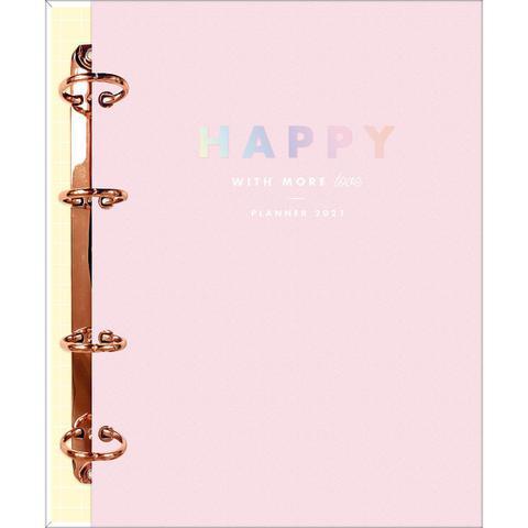 Imagem de Planner 2021 argolado rosa Happy Tilibra