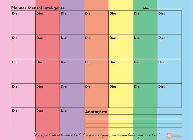 Imagem de Planner Mensal Caderno Inteligente Compatível A.I 120g UN PM