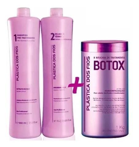 Imagem de Plastica Dos Fios Kit Escova Progressiva + Botox Control 1 Kg