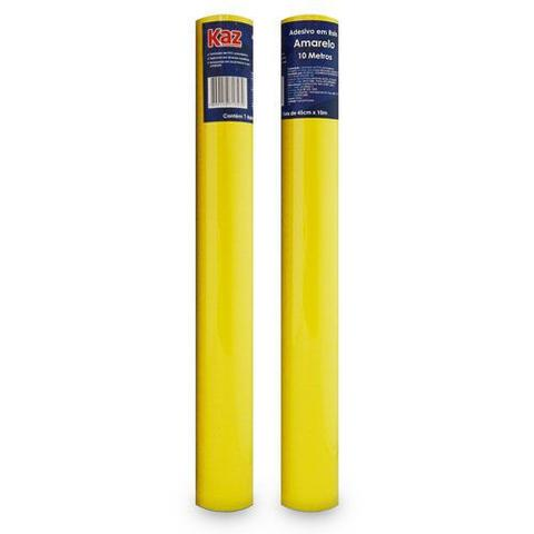 Imagem de Plastico auto adesivo rolo 45cm x 10 metros amarelo kaz