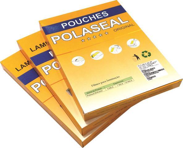 Imagem de Plástico para plastificação Espessura 0,05 Polaseal Tamanho A3 125 Micron Pacote com 10
