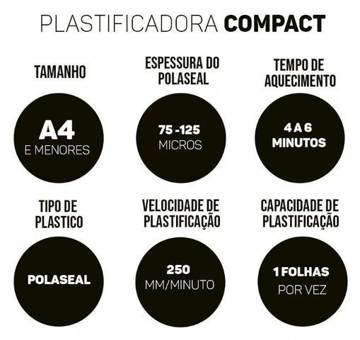 Imagem de Plastificadora de Papel Documento A4 Compact 220 Volts Menno
