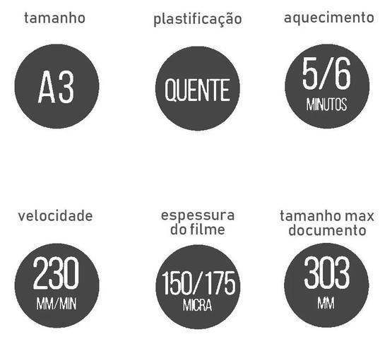 Imagem de Plastificadora Documentos A3 A4 Rg Polaseal Lm3233h - 127V - Aurora
