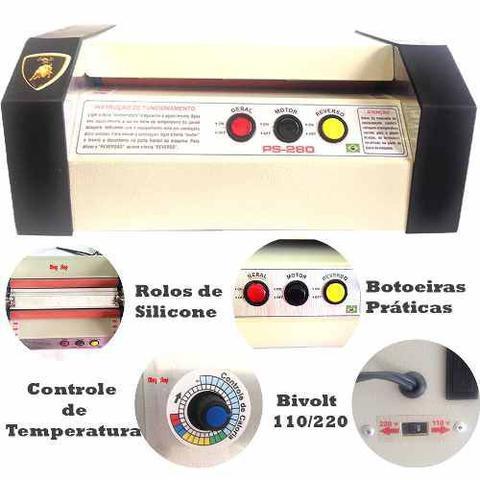 Imagem de Plastificadora Profissional PS-280 Com 100 RG e 100 CGC
