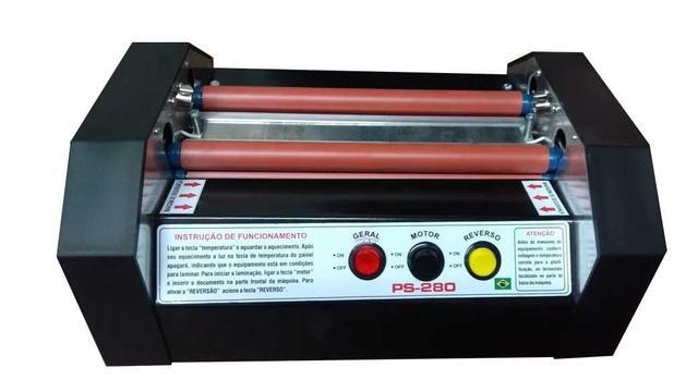 Imagem de Plastificadora profissional PS 280 com rolos de silicone ,reverso e bivolts
