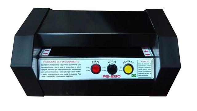 Imagem de Plastificadora Ps 280 profissional com rolos de silicone /bivolts 110 e 220 volts