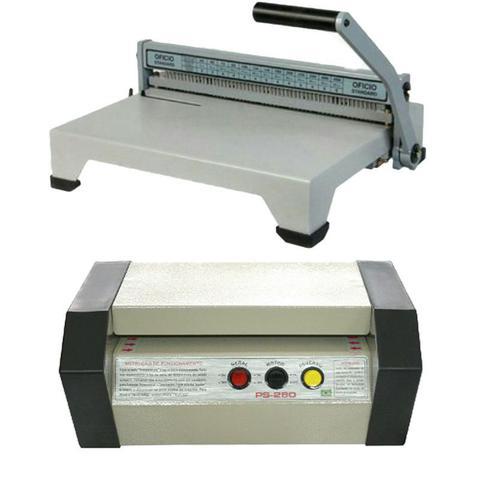 Imagem de Plastificadora PS-280 Profissional tamanho A-4 / encadernadora e material