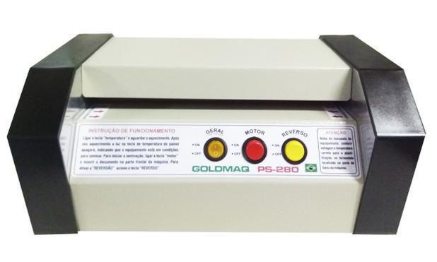 Imagem de Plastificadoras profissional Ps-280 com rolos de silicone e reverso /bivolts - Goldmaq