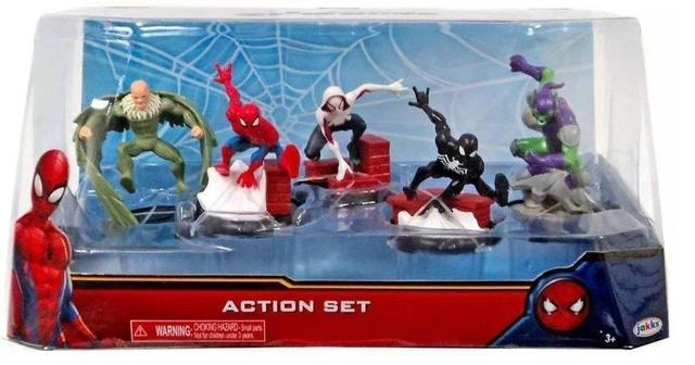 Imagem de Play set Homem Aranha Domo com 5 Bonecos Figuras Vinil - Sunny
