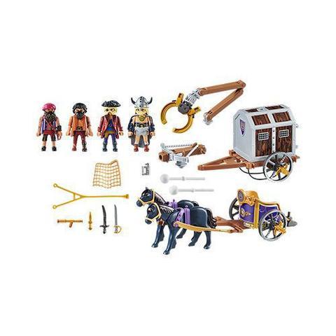Imagem de Playmobil 70073 - Charlie E Charrete Com Piratas