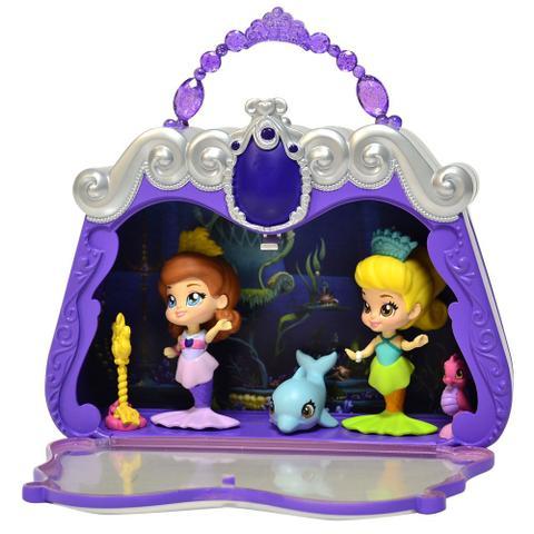 playset e boneca 7 cm disney princesinha sofia bolsa cenário