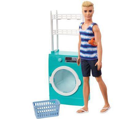 Imagem de Playset E Boneco Ken Moveis E Acessorios Lavanderia Barbie