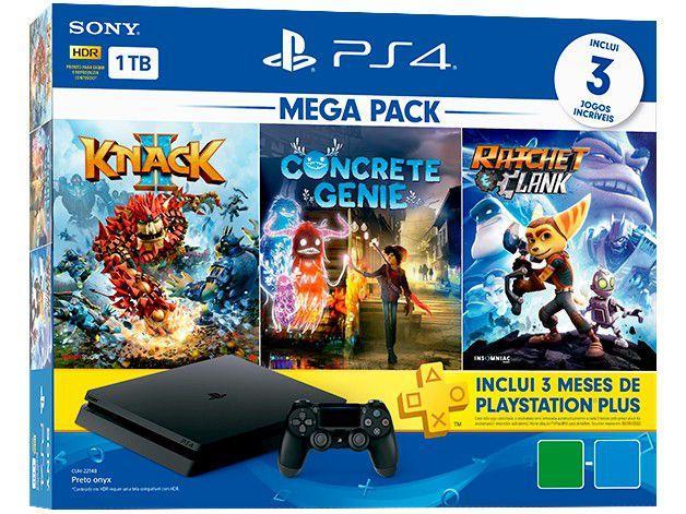 Imagem de PlayStation 4 Mega Pack Family 1TB 1 Controle