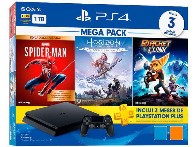 Imagem de PlayStation 4 Mega Pack V15 1TB 1 Controle Preto