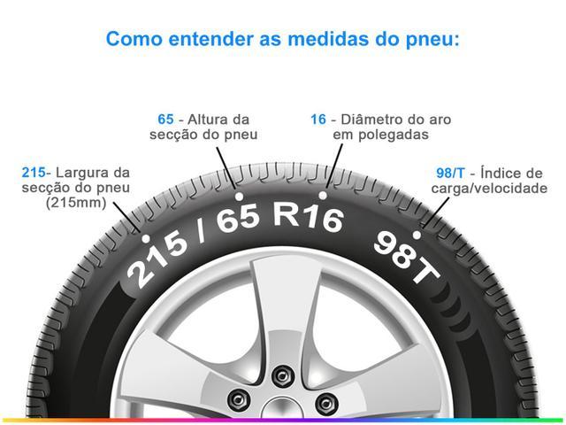"Imagem de Pneu Aro 16"" Bridgestone 215/65R16 98T"