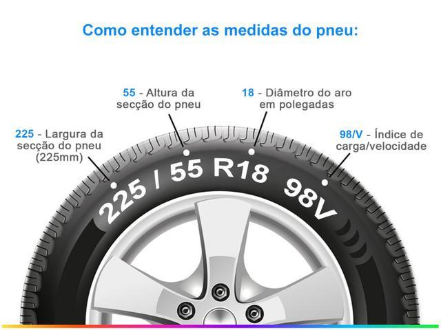 """Imagem de Pneu Aro 18"""" Michelin 225/55R18 TL"""