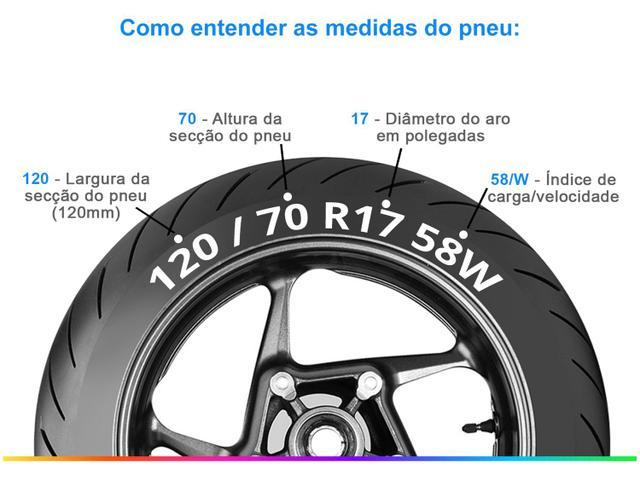 """Imagem de Pneu de Moto Aro 17"""" Metzeler Dianteiro 120/70"""