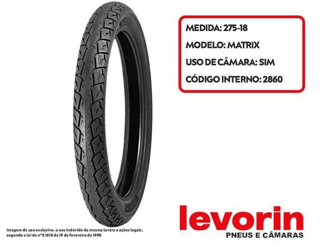 Imagem de Pneu Dianteiro Honda CG/ Titan/ FAN 125/ 150/ 160 80-100-18 Matrix Levorin 47P tt(USO c/ Câmara)