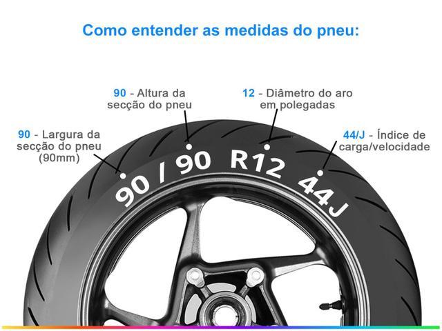 """Imagem de Pneu Moto Aro 12"""" Dianteiro Pirelli 90/90 44J SL26"""