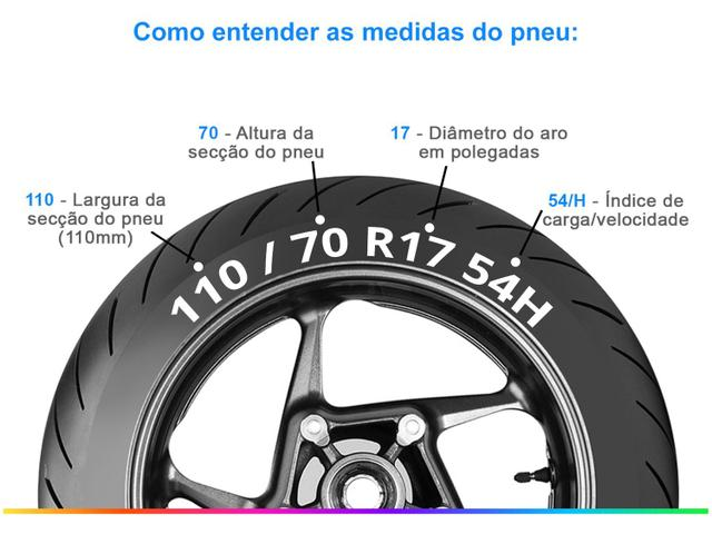 """Imagem de Pneu Moto Aro 17"""" Pirelli Dianteiro 110/70"""