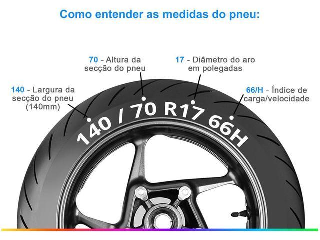 """Imagem de Pneu Moto Aro 17"""" Pirelli Traseiro 140/70 66H - Sport Touring Sport Demon"""