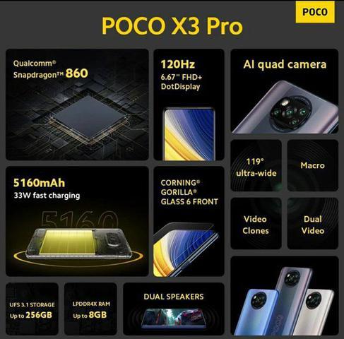 Imagem de Poco X3 Pro Dual SIM 256GB 8GB RAM - Azul