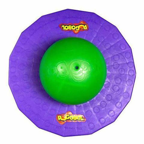 Imagem de Pogobol Estrela Clássico Original Brinquedo Pula Pula Roxo e Verde