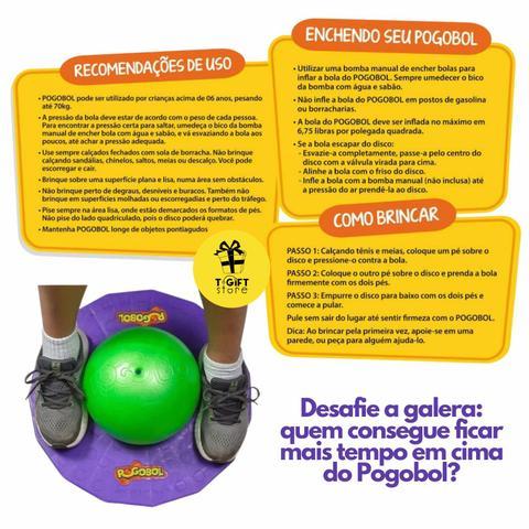Imagem de Pogobol Roxo e verde pula pula original estrela brinquedos