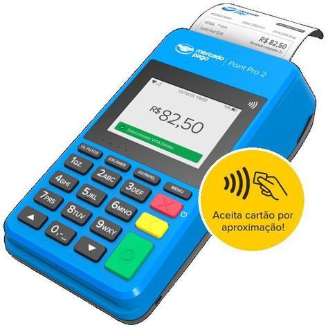 Imagem de Point pro 2 - leitor de cartão, máquina completa,  imprime recibo, conexão wifi e chip