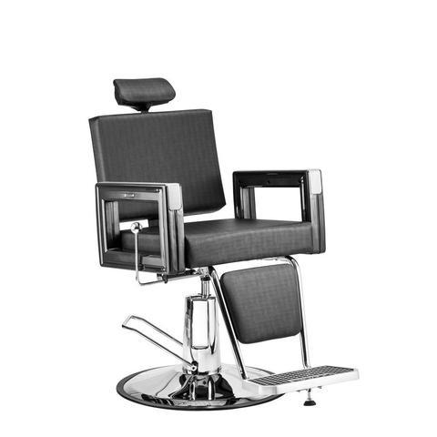 Imagem de Poltrona Cadeira Reclinável Barbeiro Maquiagem Salão Dompel - Preto Barber Square