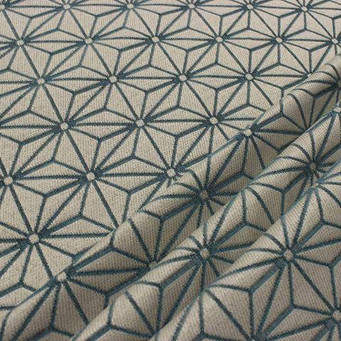Imagem de Poltrona Decorativa Anitta Estampado Jacquard Geométrico Estrela Azul A29 - DRossi