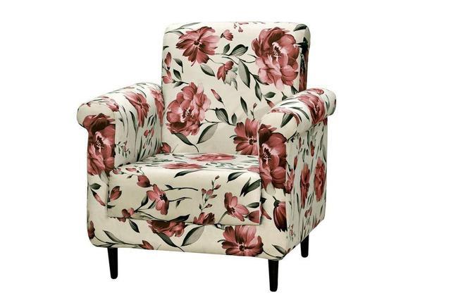 Imagem de Poltrona Decorativa Betina - Floral vermelho