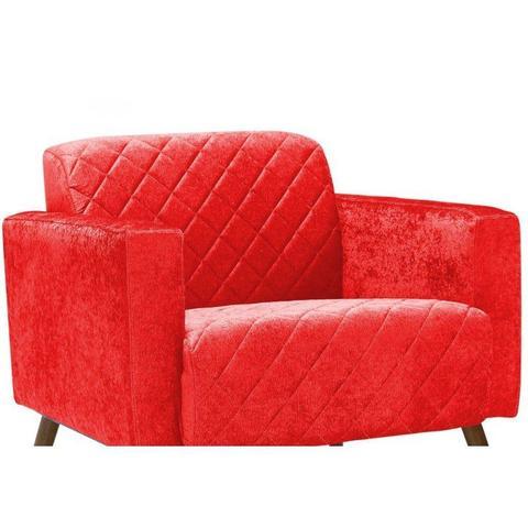 Imagem de Poltrona Decorativa Pés Palito Apolo C173 Vermelho - Domi