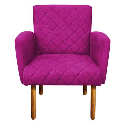 Imagem de Poltrona Decorativa Veronês para Sala e Recepção Suede Pink - DRossi