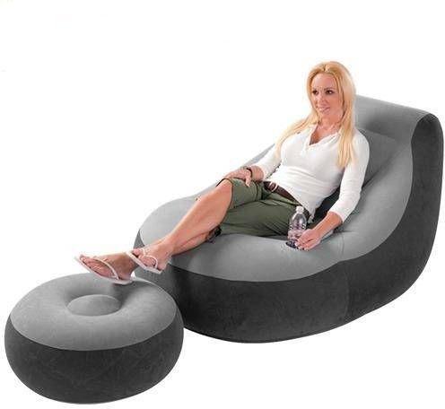 Imagem de Poltrona Inflável Ultra Lounge Com Pufe Intex