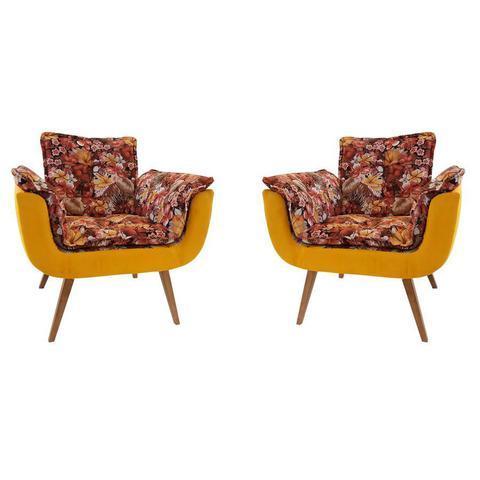 Imagem de Poltrona Opalla - Floral/Cores, 01 lugar, Base Palito