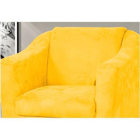Imagem de Poltrona Tilla Suede Amarela - Nay Estofados