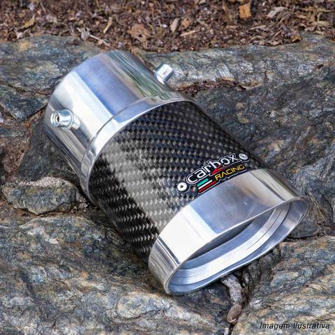 Imagem de Ponteira de Escapamento Carbox Racing New Civic 07 a 11 Spin Activ 15 a 19 Carbono Oval Alumínio