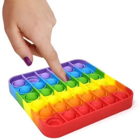 Imagem de Pop It Fidget Toy, Empurre Pop Bubble Fidget Sensorial Toy - Quadrado