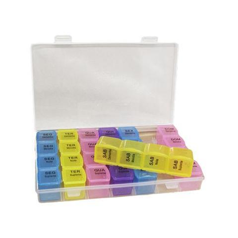 Imagem de Porta Comprimidos organiza remédios 28 dias