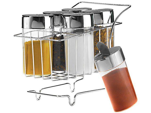 Imagem de Porta Condimentos 6 Peças com Suporte