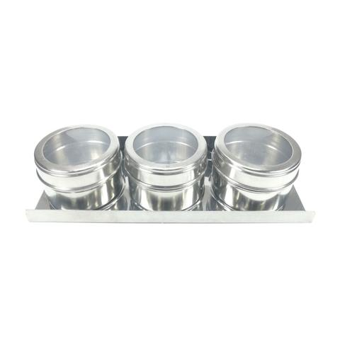 Imagem de Porta condimentos de Inox com 3 peças