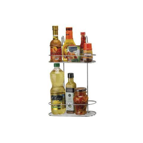 Imagem de Porta Condimentos Duplo Cook Home para Pendurar Cromado