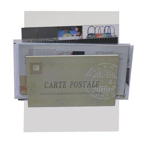 Imagem de Porta-Correspondências Carte Postale 20X25 Branco Kapos