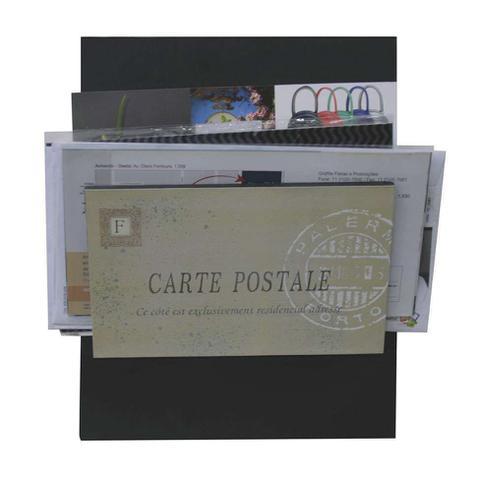 Imagem de Porta-Correspondências Carte Postale 20X25 Preto Kapos