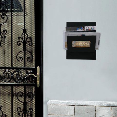 Imagem de Porta-Correspondências Letters 20X25 Preto Kapos