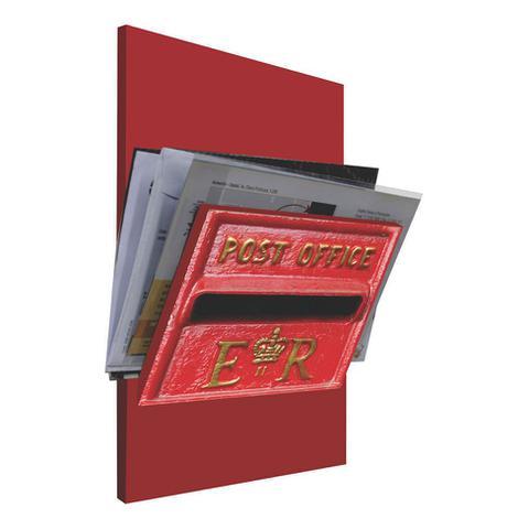 Imagem de Porta-Correspondências Post Office 20X25 Vermelho Kapos