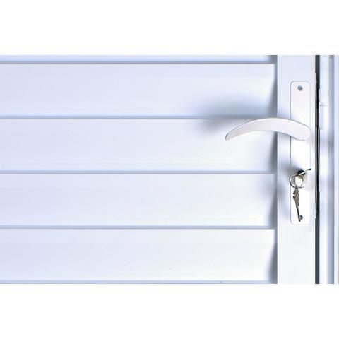 Imagem de Porta De Alumínio Palheta Ventilada 2,10 X 0,70 Direita Linha All Soft Cor Branco